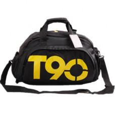 Спортивная сумка Nike T90 черная с желтым